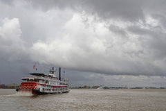 Natchez steamboat and Mississippi river Royalty Free Stock Photos
