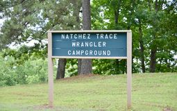 Natchez Trace Park Wrangler Campground Stockbild