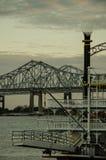 Natchezstoomboot bij de Rivier van de Mississippi - New Orleans Royalty-vrije Stock Afbeelding