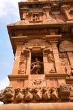 Natesa или Nataraja, южная ниша, висок Brihadisvara, Tanjore, Tamil Nadu стоковые фото