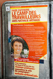 Nathalie Arthaud, French Presidential Electoral Campaign Posters. STRASBOURG, FRANCE - APR 23, 2017: Official campaign posters of Nathalie Arthaud,political Royalty Free Stock Photo