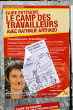 Nathalie Arthaud, French Presidential Electoral Campaign Posters. STRASBOURG, FRANCE - APR 23, 2017: Official campaign posters of Nathalie Arthaud,political Royalty Free Stock Images