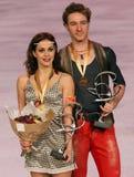 Nathalie PECHALAT/Fabian золото выигрыша BOURZAT Стоковые Изображения RF