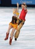 Nathalie Pechalat and Fabian Bourzat (FRA) Stock Images
