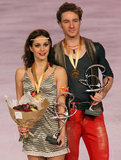 Nathalie PECHALAT / Fabian BOURZAT win gold Royalty Free Stock Images