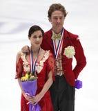 Nathalie Pechalat und Fabian Bourzat von Frankreich Stockbild