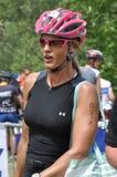 Nathalie Simon, d'Huez 2009 di Alpe. fotografie stock