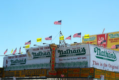 Nathan�s Famous restaurant is reopen for business nearly seven months after superstorm Sandy damage Royalty Free Stock Photos