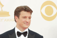 Nathan Fillion. At the 65th Primetime Emmy Awards at the Nokia Theatre, LA Live. September 22, 2013  Los Angeles, CA Picture: Featureflash Royalty Free Stock Photography