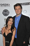 Nathan Fillion,Mikaela Hoover Royalty Free Stock Images
