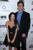 Nathan Fillion,Mikaela Hoover Stock Images