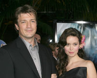 Nathan Fillion,Summer Glau Royalty Free Stock Photo