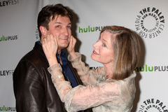 Nathan Fillion, Susan Sullivan Royalty Free Stock Image