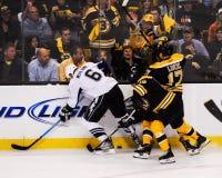Nathan Horton en Milan Lucic, Boston Bruins Royalty-vrije Stock Afbeeldingen