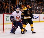 Nathan Horton -- Rick DiPietro (NHL) Royalty Free Stock Photos
