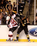 Nathan Horton and Ryan Carter (Bruins v. Devils) Royalty Free Stock Images