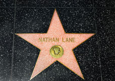 Nathan Lane Star on the Hollywood Walk of Fame Stock Images