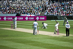 Nathan Lyon bowling at SCG Royalty Free Stock Photography