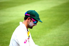 Nathan Lyon en Sydney Cricket Ground Fotos de archivo