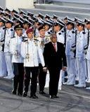检查nathan ndp总统的卫兵荣誉称号 免版税图库摄影