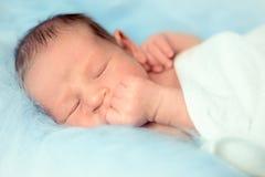 Nathan nouveau-né Photo libre de droits