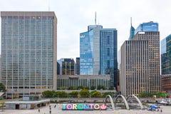 Nathan Philips kwadrat w Toronto, Kanada Zdjęcie Stock