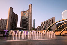 Nathan Phillips Square and City Hall on Toronto Stock Photography