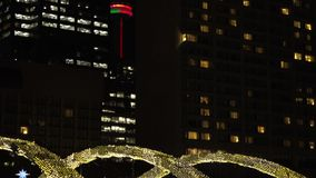 Nathan Phillips Square decorated for Christmas stock video footage