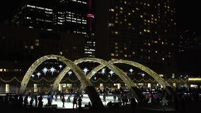 Nathan Phillips Square decorated for Christmas stock video