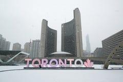 Nathan Phillips Square i Toronto Royaltyfri Foto