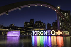 Nathan Phillips Square Night Immagini Stock