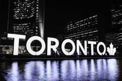 Nathan Phillips Square Night royalty free stock photo