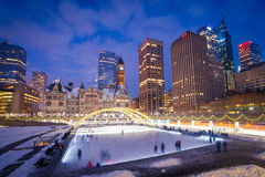 Nathan Phillips Square. In Toronto, Canada Royalty Free Stock Images