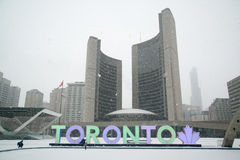 Nathan Phillips square in Toronto royalty free stock images