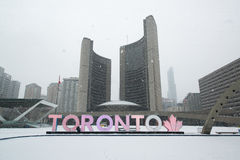 Nathan Phillips square in Toronto royalty free stock photo