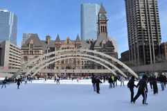 Nathan Phillips Square, Toronto, Kanada Stockfoto
