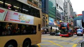 Nathan Road en el distrito de Mong Kok de Hong Kong almacen de video