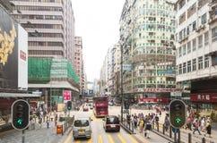 Nathan Road en Kowloon, Hong Kong imagenes de archivo