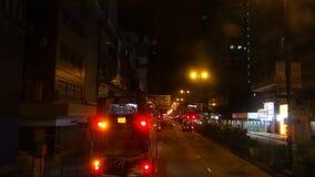Nathan Road en la noche almacen de metraje de vídeo