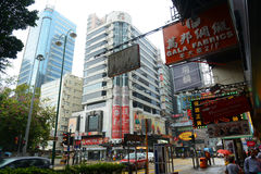 Nathan Road i Kowloon, Hong Kong Royaltyfria Foton