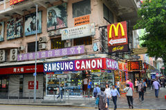 Nathan Road in Kowloon, Hong Kong Stock Image