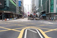 Nathan Road in Morning Royalty Free Stock Image