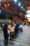 Nathan road by night Stock Image