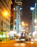 Nathan Road at night Stock Photography