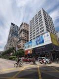 Nathan road in tsim sha tsui. Nathan Road in Hong Kong Kowloon stock image