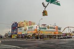 Nathan ` s coney wyspa nowy York Obrazy Royalty Free