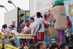 The 2015 Nathan's Famous Hot Dog Eating Contest Part 2  43. The Nathan's Hot Dog Eating Contest has been held at the original location on Coney Island every year Royalty Free Stock Photos