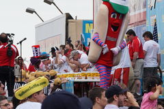 The 2015 Nathan's Famous Hot Dog Eating Contest Part 2  69. The Nathan's Hot Dog Eating Contest has been held at the original location on Coney Island every year Stock Photo