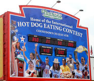 Nathan's Hot Dogs Countdown Clock Stock Photos