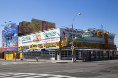 The Nathan s original restaurant at Coney Island Stock Photo